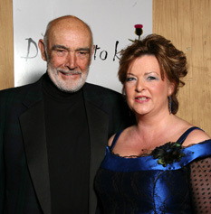 Sir Sean Connery and Fiona Hyslop MSP